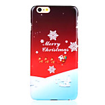 Snowflake Decal UV Varnish PC Material Christmas Phone Case for iPhone 6 /6S