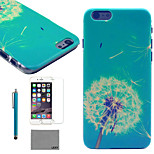 LEXY® Blue Dandelion Pattern Hard PC Back Case with 9H Glass Screen Protector and Stylus for iPhone 5/5S