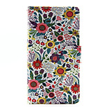 Colorful Flower PU Leather Full Body Case with Stand for Huawei Ascend P8 Lite