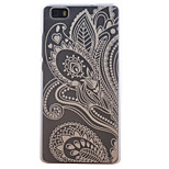 Half Flower Pattern Transparent Frosted PC Material Cell Phone Case for Huawei P8 Lite