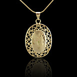 18K Real Gold Plated Allah Muslim Islamic Pendant 2.5*4.4CM