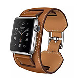 Genuine Leather Watchband Classic Buckle Bracelet Style for iWatch Watchband 38mm/42mm Assorted Colors