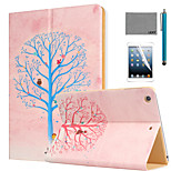 LEXY® Wishing Tree Pattern PU Leather Flip Stand Case with Screen Protector and Stylus for iPad Air 2/iPad 6