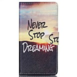 Never Stop Pattern PU Leather Phone Case For Sony M4