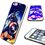 iPhone6 Case Marvel The Avenger Captain America Mirror Back Blue Cover Case Free with  HD Screen Protector for iPhone6