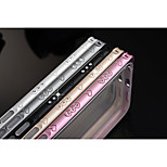 Hippocampal Buckle Metal Diamond Ultrathin TPU Arc Frame Mobile Phone Protection Shell for Multiple IPHONE 6/6S