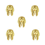 10pcs Egyptian Pharaoh Egypt Theme 3D Gold Nail Art Alloy 8mm x 10mm