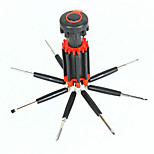 8-in-1 Screw Drivers Toolkit with 6-LED Flashlight (3xAAA)