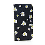 White Chrysanthemum PU Leather Wallet Full Body Case for iPhone 6/6S