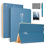 LEXY® Meet you Pattern PU Leather Flip Stand Case with Screen Protector and Stylus for iPad Mini 1/2/3