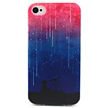 Meteor Shower Pattern TPU Case for iphone 4G/4S
