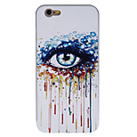Cool Colorful Eye Pattern PC Back Cover with Silver Metallic Bumper for iPhone 6