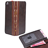 Solid color Stylish Genuine Leather Flip Cover Wallet Card Slot Case with Stand for iPhone6