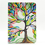 Colorful Tree Pattern PU Leather Full Body Case with Stand and Card Slot for iPad Mini 4