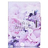 Beautiful Life Pattern PU Leather Full Body Case With Stand for iPad Air 2