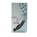 Dream with Swallow PU Leather Wallet Full Body Case with Stand for Huawei G8
