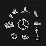 Beadia Metal Charm Pendants Antique Silver Watch Camera DIY Jewelry Accessories