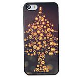 Natale stile albero di luce nera pc copertura posteriore dura per il iphone 5 / 5s
