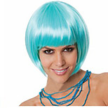 Hot Selling Factory Wholesale Blue Color BoBo Head Is Euramerican Style Wig Hot Style