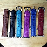 Alligator Pattern Watchband Fashion Pu for Apple Watch38/42mm Assorted Colors