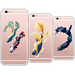 MAYCARI® The Pretty Goldfish Transparent TPU Back Case for iPhone 6/iphone 6S(Assorted Colors)