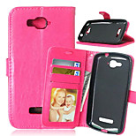 High Quality PU leather Wallet Mobile Phone Holster Case For Alcatel C7  (Assorted Color)