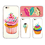 MAYCARI® Cute Desserts Transparent TPU Back Case for iPhone 6/iphone 6S(Assorted Colors)