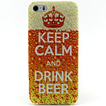 Drink Beer Painting Pattern TPU Soft Case for iPhone 5/5S