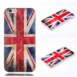 3D British National Flag Pattern Phone Shell Thin TPU Material for iPhone 6/6S