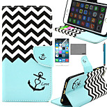 LEXY® Wave Anchor Pattern PU Full Body Leather Case with Screen Protector and Stylus for iPhone 6/6S