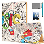 LEXY® Rock Star Pattern PU Leather Flip Stand Case with Screen Protector and Stylus for iPad Air/iPad 5