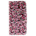 diseño romántico rosa pu funda de piel de todo el cuerpo con ranura para tarjeta y el soporte de la cubierta del tpu para el tacto 5