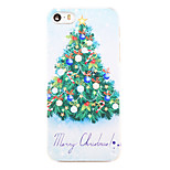 Christmas Style Christmas Tree Phrase Pattern Transparent PC Back Cover for iPhone 5/5S