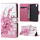 Plum Blossom PU Leather Wallet Case for Alcatel OneTouch Idol 3 (4.7)