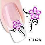 1 PCS 3D Water Transfer Printing Nail Stickers XF1428