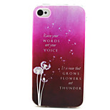 Dandelion Painting Pattern TPU Soft Case for iPhone 4/4S