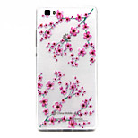 Plum flower Pattern TPU Relief Back Cover Case for P8 Lite