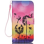 Dandelion Pattern PU Material Card Lanyard Case for iPhone 6/6S