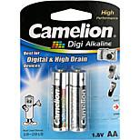 Camelion Digi Alkaline Primary Batteries Size AA (2pcs)