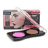 Music Flower®1  Normal Blush Dry/Shimmer/Mineral Powder 2 Color