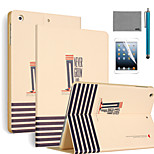 LEXY® Never Grow Up Pattern PU Leather Flip Stand Case with Screen Protector and Stylus for iPad Air 2/iPad 6