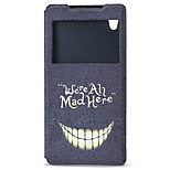 Smiling Face Pattern PU Material Full Body Case for Sony Xperia Z5