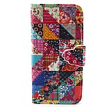 Flower Pattern PU Leather Full Body Case with Card Slot and Stand for iPhone 6/6S