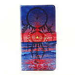 Sea Flapping Monternet Portal Face Design PU Leather Stand Case with Card Slot for Sony Xperia M2