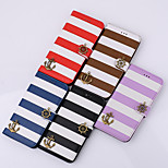 PU Following From Matching Color Stripe and Fashionable Mobile Phone Sets for iphone 4S/4 Assorted Color