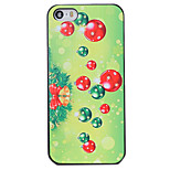 Christmas Style Green Decoration Pattern PC Hard Back Cover for iPhone 5/5S