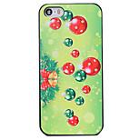 Estilo de la Navidad patrón de decoración verde pc contraportada dura para el iphone 5 / 5s