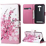 Plum Blossom   PU Leather Card Holder Case for Asus Zenfone 2 Laser ZE500KG ZE500KL