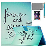 LEXY® Green Word Pattern PU Leather Flip Stand Case with Screen Protector and Stylus for iPad Mini 4