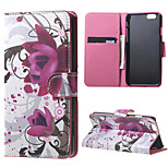 Kapok Flower Magnetic PU Leather Stand Case Cover for Iphone 4/4S/5/5S/6/6S/ 6 PLUS
